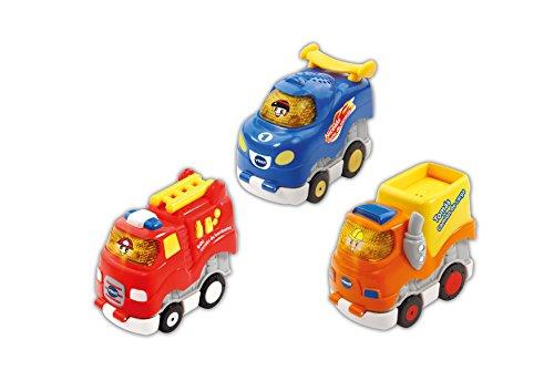VTech Press & Go, 3 coches interactivos que incorporan melodías y canciones, compatibles con el resto de set de la colección Tut bólidos (3480-249967) , color/modelo surtido