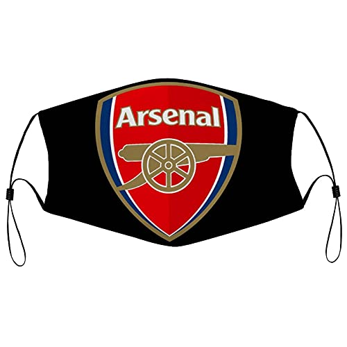 MENZEN Arsenal Soccer Fabric Face Ma-Sk Balaclavas Bandanas for Ladies Mens with Design Reusable Washable