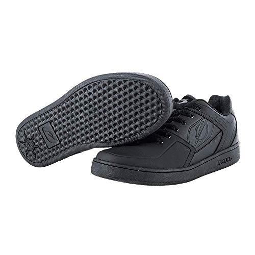 O'NEAL | Mountainbike-Schuhe | MTB Downhill Freeride | Vegan | Gleichgewicht zwischen Grip und Fußrepositionierung, Waben-Sohlenstruktur | Pinned Flat Pedal Shoe | Erwachsene | Schwarz | Größe 46