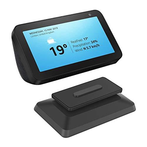 EEEKit Ständer für Echo Show 8 Smart Speaker,Verstellbares Zubehör für die Magnetische Standhalterung mit Rutschfester Dreh- und Neigefunktion(Schwarz)
