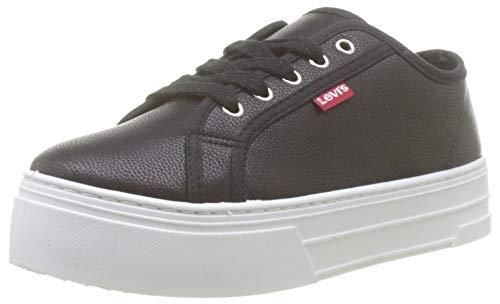 Levi's Tijuana, Zapatillas para Mujer, Negro (Sneakers 60), 38 EU