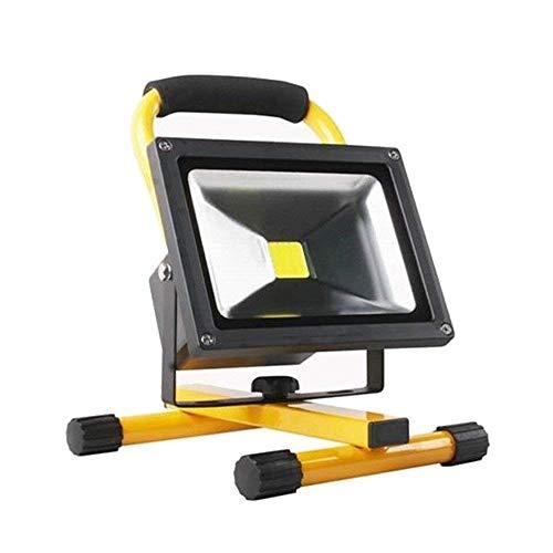 AUFUN Foco LED Exterior 50W Blanco Frío Foco Proyector LED Impermeable IP65 Batería Recargable Luz Trabajo Lámpara para pesca Reflector Calzada Terraza Jardin