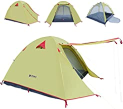 WEANAS Professional Backpacking Tent 2-3- 4 Person 3 Season Weatherproof Double Layer Large Space Aluminum Rod for Outdoor Family Camping, Hunting, Hiking, Adventure and Travel (Green, 2-3 Person)