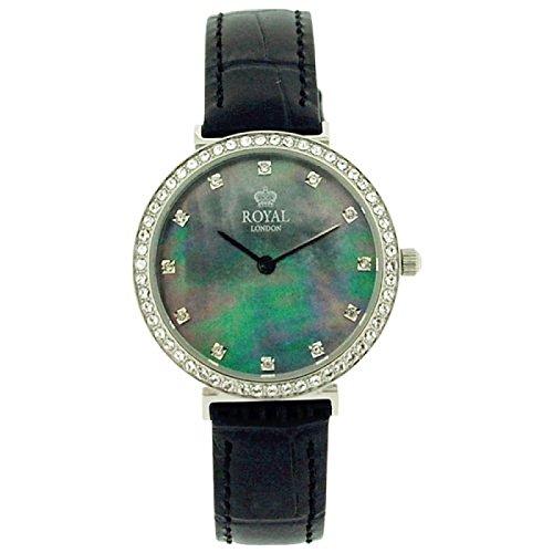 Royal London 21212-03 - Orologio da donna, cinturino in pelle, colore: nero