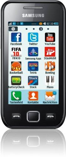 Samsung Wave 525 S5250 Smartphone (8,1 cm (3,2 Zoll) Display, Touchscreen, 3,2 Megapixel Kamera) schwarz