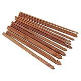 12 Tamaños/Juego Mango Ganchillo Ganchillo Bambú Tejido de Punto Tejido de Agujas Conjunto de Hilo Manualidades Herramientas de Hilo búsqueda Caliente Johnsosen