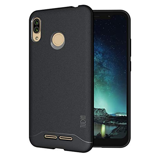 TUDIA BLU VIVO XL4 Case, [Arch] Shock Absorption Drop-Proof Lightweight Scratch Resistant TPU Bumper Protection Cover for BLU VIVO XL4 [NOT Compatible with VIVO XL or XI+] (Black)