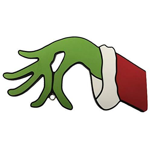 taianle Navidad Ladrón Grinch Decoraciones Cortadas a Mano La Mano Divertida Del Ladrón Está Robando Tus Adornos Decoración Navideña Interior Al Aire Libre para Chimenea Ventana Pared