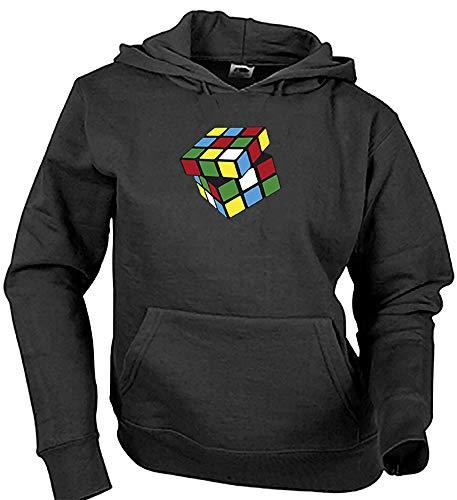 Camisetas EGB Sudadera Cubo Mágico Adulto/Niño ochenteras 80´s Retro (L, Negro)