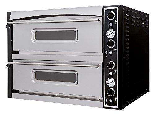 Pizzaofen ITALIA 44 TOP - Backkammer vollschamottiert - Prismafood Premium geeignet für 8 x Ø 35 cm Pizzen