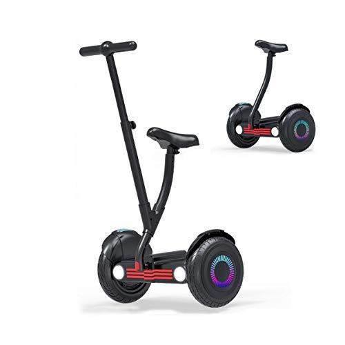 A-myt Diversión Ego Equilibrio Scooter Hover Tablero 10 Pulgadas All Terrain Wheels Aplicación Sistema de Control Inteligente - Altavoz Bluetooth Luces LED Regalo para niños y Adultos Elegante