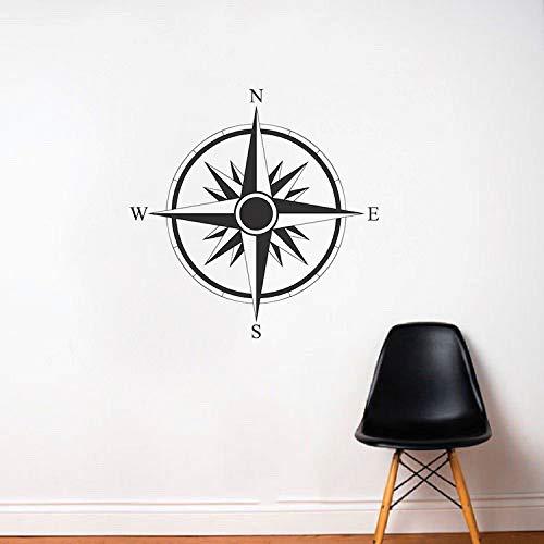 Adesivo da parete in vinile con bussola, decorazione per camera da letto, soggiorno, decorazione artistica 42 x 42 cm