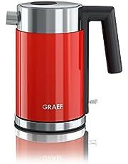 Graef WK403EU WK 403 roestvrij stalen waterkoker, roestvrij staal, 1 liter, rood