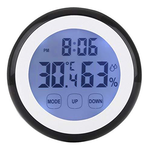 XF-B Touchscreen temperatuur elektronisch luchtvochtigheid weerstation binnen digitale LCD thermometer hygrometer achtergrondverlichting klok