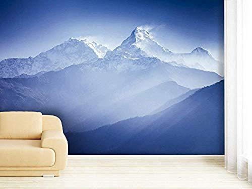 XHXI Mural 3D Leão Adesivo de Parede Em Tons de Laranja No tejido Premium Art Print Mural de pared Decoración Pared Pintado Papel tapiz Decoración dormitorio Fotomural sala sofá mural-350cm×256cm