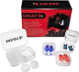 Ear Plugs for Sleeping by EarJoy, 6 Pairs, Reusable & Custom Fit Soft Silicone Earplugs, The Best Noise Cancelling Ear Plugs for Sleeping, Perfect for a Light Sleeper…