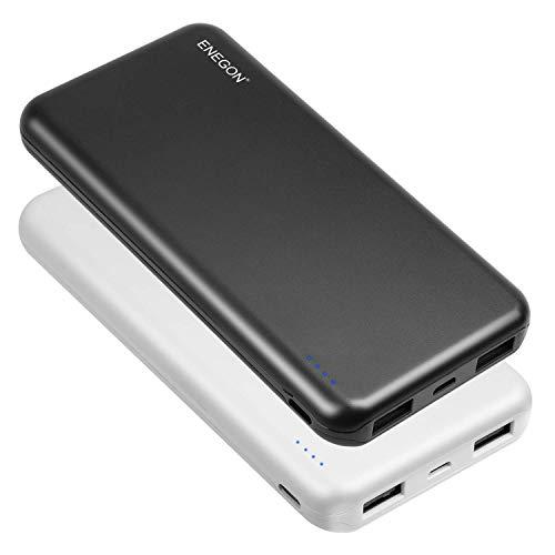 ENEGON Pack de 2 Bancos de energía portátiles de 10000mAh Batería de Carga de teléfonos móviles con Entrada USB de Tipo C y Salida USB Dual para iPhone, iPad, Galaxy S9, tabletas y más
