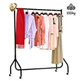 <span class='highlight'><span class='highlight'>DOSLEEPS</span></span> Clothes Rails 4FT Clothing Rail on Wheels Metal Heavy Duty Carment Hanging Rack Coat Display Stand For Bedroom, Living Room (4ft)