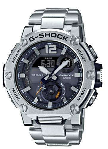 Casio G-Shock GSTB300E-5A G-Steel - Reloj con banda de acero inoxidable con energía solar