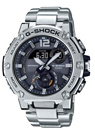 Casio G-Shock GSTB300E-5A G-Steel Solar Powered Bluetooth Stainless Band Watch