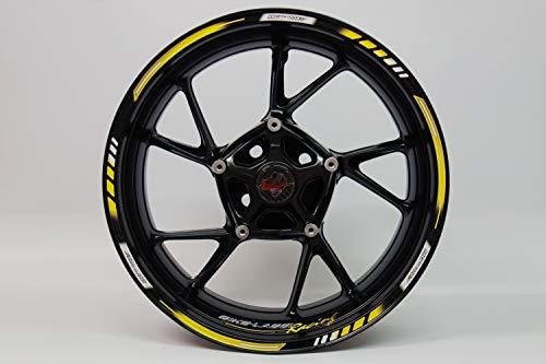 Jante randauf Colle 710004 Rim Stripes GP style – Racing 1000 jaune – Kit complet – Pour 16 \