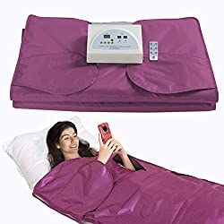 SurmountWay Sauna Blanket Detox Far Infrared, Professional Body Shaper Sauna Slimming Blanket Detox Therapy Machine Fitness(Upgrade Purple