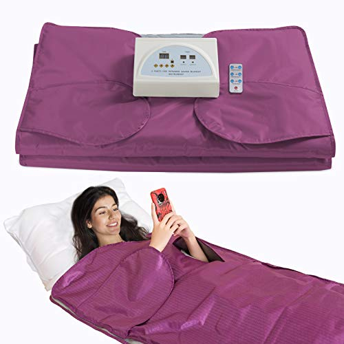 SurmountWay Sauna Blanket Detox Far Infrared, Professional Body Shaper Sauna Blanket Detox Therapy Machine(Upgrade Purple)
