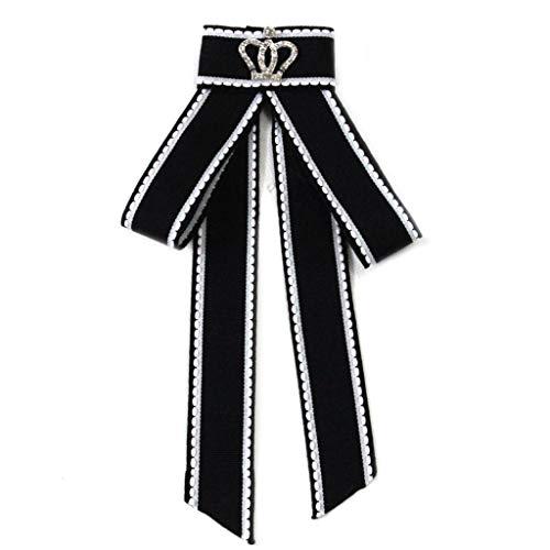 Njuyd - Broche clásico para mujer, estilo británico, diseño de corona con brillantes y diamantes de imitación