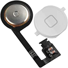 BisLinks Replacement for iPhone 4S Home Button with Flex Cable Assembly Replacement Part White New