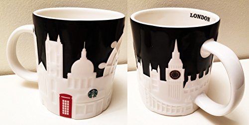 Starbucks Coffee Company Kaffee-/ Teetasse, mit London-Motiv mit Big Ben, London Eye, Skyline, roter Telefonzelle und St. Paul's Cathedral, 450 ml, 1 Tasse