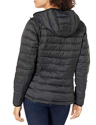 Amazon Essentials Lightweight Water-resistant Packable Hooded Puffer Jacket Down Alternative Coat, Black, US L (EU L - XL)