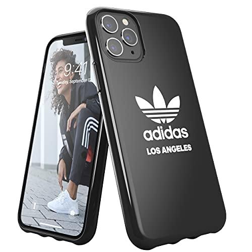 adidas Custodia progettata per iPhone 11 PRO, Cover Testate a Caduta, Bordi rialzati, Custodia Originale Los Angeles Snap Case con Logo Bianco e Nero