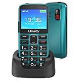 Uleway gsm Teléfono Móvil para Mayores con Teclas Grandes Telefonos Basicos Fácil de Usar Celular para Ancianos Doble SIM Móvil Simple con Botón SOS, Cámara, Linterna (Verde)