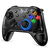 REDSTORM Wireless Controller for Nintendo Switch, Bluetooth Gamepad Joypad Joystick , Turbo/Double Vibration/6-Axis, compatible with Nintendo Switch / Switch Lite / PC,Black