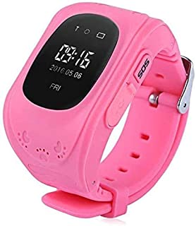 Gymqian Fitness Tracker Anti Perdido Niño Gps Rastreador Smart Monitoring Posicionamiento Phone Kids Gps Baby Watch Compatible Ios Y Android Sport Fitness Tracker Moda/Rosado