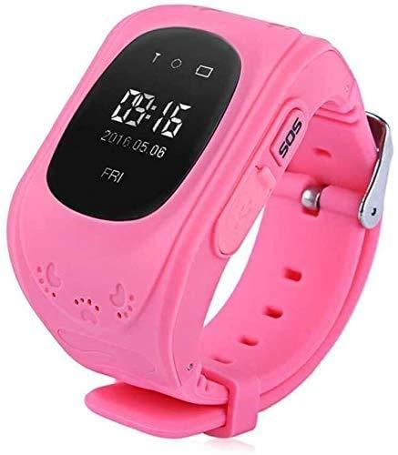 ZHENAO Fitness Tracker Anti Perdido Niño Gps Rastreador Smart Monitoring Posicionamiento Phone Kids Gps Baby Watch Compatible Ios Y Android Sport Fitness Tracker Moda/Rosado