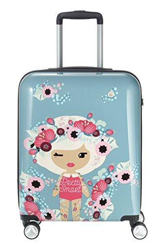 Travelite Lil'Ledy Equipaje de mano, 54 cm, 38 liters, Azul (Graublau)