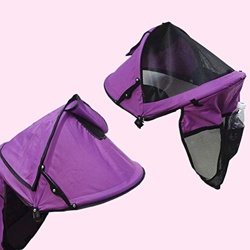Toldo universal para cochecito, parasol para cochecito, protección UV, morado
