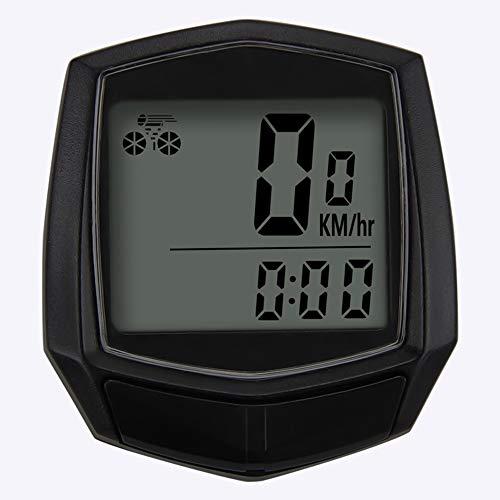 自転車 スピードメーター 自転車ストップウォッチ サイクルコンピュータ LCDディスプレイ 有線 防水 多機能 インストールが簡単 自転車アクセサリー ブラック サイクリング ランニング用