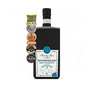 Dry Vermouth - SCHOFIELD'S by Asterley Bros - English Dry Vermouth For Martinis, White Negronis and Aperitivo Cocktails - 500ml