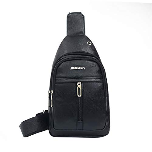 Brusttasche für Herren/Skxinn Umhängetasche Schultertasche Cross Bag Schleuder Tasche Sling Rucksack Multipurpose Daypack,Outdoor Sport Running Casual Umhängetasche(L-1)