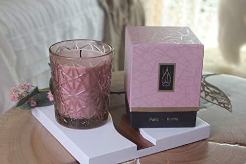 Driada -VIDRO Lounge Rosa con acrilico Roma,Vela Perfumada/Aromática,