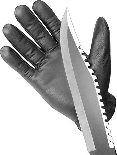 normani Einsatzhandschuh Super Defender aus Leder mit Quarzsandfüllung und schnitthemmenden Kevlar Farbe Schwarz Größe 4XL