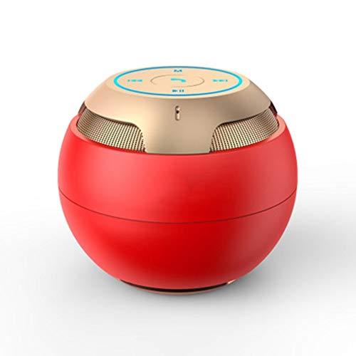 Chyuanhua Bluetooth Lautsprecher Indoor Subwoofer-Computer Bluetooth-Lautsprecher Wahre Stereoton Geeignet for Outdoor-Reisen-Party Geeignet für Zuhause im Freien (Color : Red, Size : M)