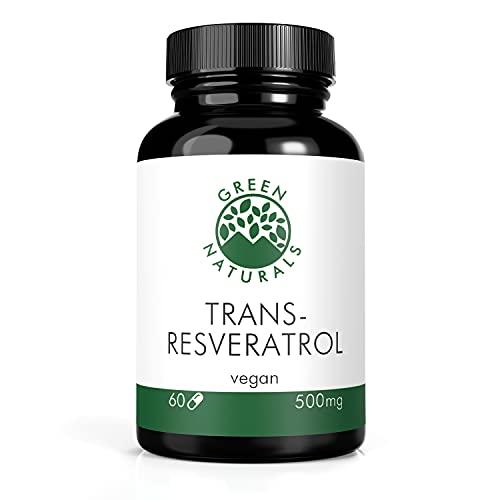 Resveratrolo (60 capsule da 500 mg) da estratto di radice di poligono giapponese - produzione tedesca - 100% vegano e senza additivi - scorta per 2 mesi - compreso l ebook