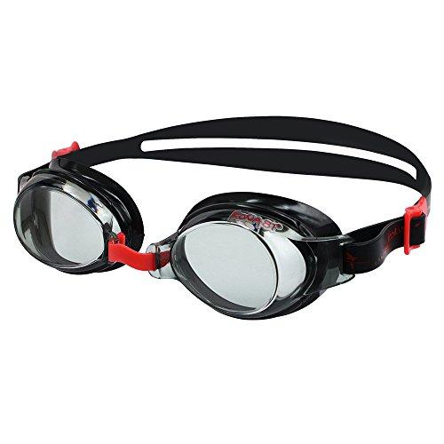 KONA81 K713 – Optische Schwimmbrille mit Sehstärke (Diverse zwischen 0.0 bis – 8.0) für Damen und Herren, 100% UV-Schutz, Anti-Beschlag-Beschichtung, Wasserdicht #71395 (Rot, -2.0)