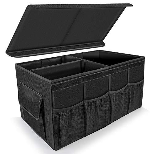 Besrey Kofferraum Organizer mit Deckel, 66L Praktisch Kofferraumtasche, Faltbare Auto Kofferraum Organizer, Stabile, Antirutsch