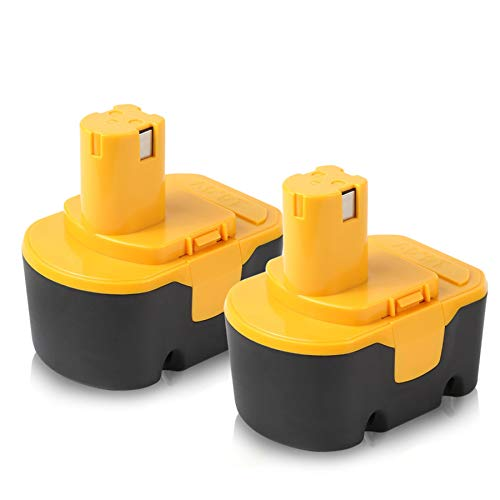 Ryobi 14.4V Battery, 2Pack 3.0Ah Ni-MH Battery for Ryobi 130224010 130224011 130281002 1314702 1400144 1400655 1400656 1400671 4400011 Cordless Power Tools
