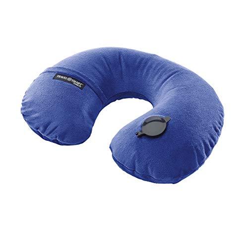 Travel Smart by Conair EZ Inflate Fleece Neck Rest, Navy