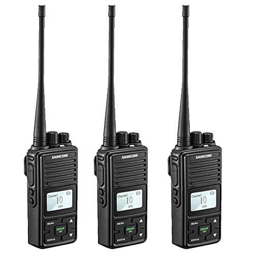 New 2 Ways Radio Long Range Samcom FPCN10A Walkie Talkie 20 Channels Wireless Intercom with Group Bu...